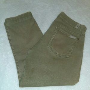 """7 forallmankind 'the skinny crop&roll"""" jean.Size28"""
